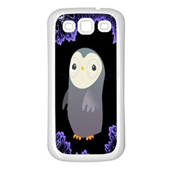Fractal Image With Penguin Drawing Samsung Galaxy S3 Back Case (white)