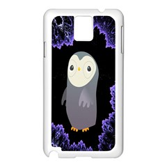 Fractal Image With Penguin Drawing Samsung Galaxy Note 3 N9005 Case (white)