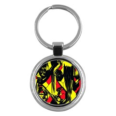 Easy Colors Abstract Pattern Key Chains (round)
