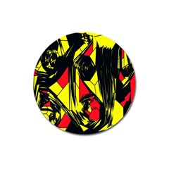 Easy Colors Abstract Pattern Magnet 3  (round)