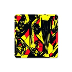 Easy Colors Abstract Pattern Square Magnet