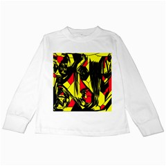Easy Colors Abstract Pattern Kids Long Sleeve T Shirts