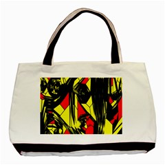 Easy Colors Abstract Pattern Basic Tote Bag by Nexatart