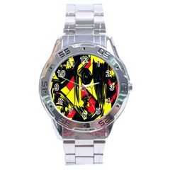 Easy Colors Abstract Pattern Stainless Steel Analogue Watch by Nexatart