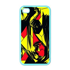 Easy Colors Abstract Pattern Apple Iphone 4 Case (color) by Nexatart