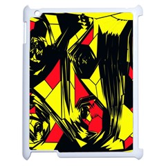Easy Colors Abstract Pattern Apple Ipad 2 Case (white) by Nexatart