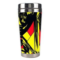 Easy Colors Abstract Pattern Stainless Steel Travel Tumblers by Nexatart