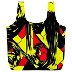 Easy Colors Abstract Pattern Full Print Recycle Bags (l)