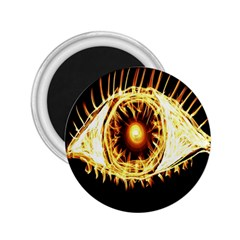 Flame Eye Burning Hot Eye Illustration 2 25  Magnets by Nexatart