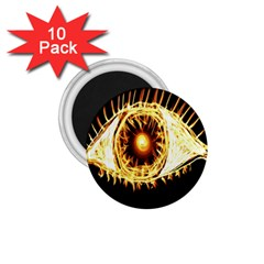 Flame Eye Burning Hot Eye Illustration 1 75  Magnets (10 Pack)