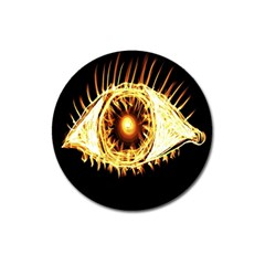 Flame Eye Burning Hot Eye Illustration Magnet 3  (round) by Nexatart