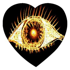 Flame Eye Burning Hot Eye Illustration Jigsaw Puzzle (heart) by Nexatart