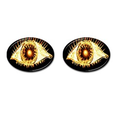 Flame Eye Burning Hot Eye Illustration Cufflinks (oval) by Nexatart