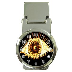 Flame Eye Burning Hot Eye Illustration Money Clip Watches by Nexatart