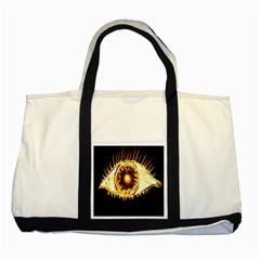 Flame Eye Burning Hot Eye Illustration Two Tone Tote Bag