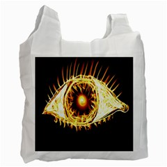 Flame Eye Burning Hot Eye Illustration Recycle Bag (one Side)