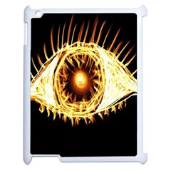 Flame Eye Burning Hot Eye Illustration Apple Ipad 2 Case (white) by Nexatart