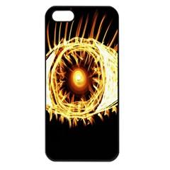 Flame Eye Burning Hot Eye Illustration Apple Iphone 5 Seamless Case (black)