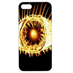 Flame Eye Burning Hot Eye Illustration Apple Iphone 5 Hardshell Case With Stand by Nexatart