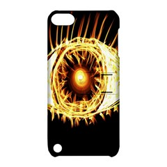 Flame Eye Burning Hot Eye Illustration Apple Ipod Touch 5 Hardshell Case With Stand