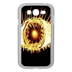 Flame Eye Burning Hot Eye Illustration Samsung Galaxy Grand Duos I9082 Case (white)