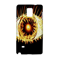 Flame Eye Burning Hot Eye Illustration Samsung Galaxy Note 4 Hardshell Case