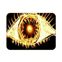 Flame Eye Burning Hot Eye Illustration Double Sided Flano Blanket (mini)  by Nexatart