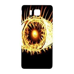 Flame Eye Burning Hot Eye Illustration Samsung Galaxy Alpha Hardshell Back Case
