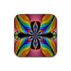 Fractal Butterfly Rubber Coaster (square)  by Nexatart