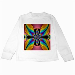 Fractal Butterfly Kids Long Sleeve T Shirts