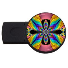 Fractal Butterfly Usb Flash Drive Round (4 Gb)
