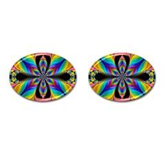 Fractal Butterfly Cufflinks (oval)