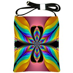 Fractal Butterfly Shoulder Sling Bags by Nexatart