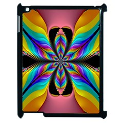 Fractal Butterfly Apple Ipad 2 Case (black) by Nexatart