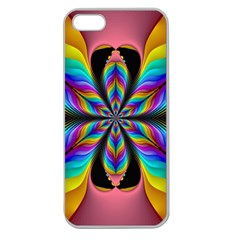 Fractal Butterfly Apple Seamless Iphone 5 Case (clear)