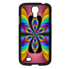 Fractal Butterfly Samsung Galaxy S4 I9500/ I9505 Case (black) by Nexatart
