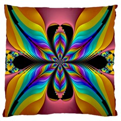 Fractal Butterfly Standard Flano Cushion Case (one Side) by Nexatart