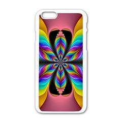 Fractal Butterfly Apple Iphone 6/6s White Enamel Case