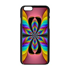 Fractal Butterfly Apple Iphone 6/6s Black Enamel Case by Nexatart