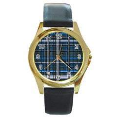 3d Effect Apartments Windows Background Round Gold Metal Watch by Nexatart