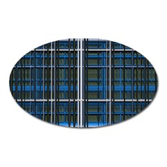 3d Effect Apartments Windows Background Oval Magnet by Nexatart
