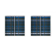 3d Effect Apartments Windows Background Cufflinks (square) by Nexatart