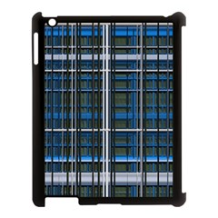 3d Effect Apartments Windows Background Apple Ipad 3/4 Case (black)