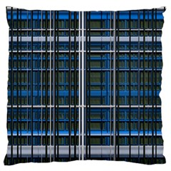 3d Effect Apartments Windows Background Large Flano Cushion Case (two Sides) by Nexatart