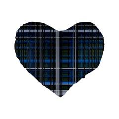 3d Effect Apartments Windows Background Standard 16  Premium Flano Heart Shape Cushions by Nexatart
