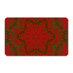 Christmas Kaleidoscope Magnet (rectangular)