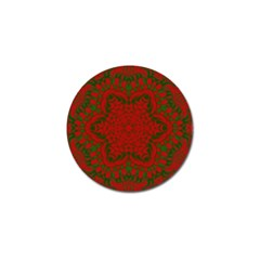 Christmas Kaleidoscope Golf Ball Marker (4 Pack) by Nexatart