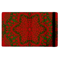 Christmas Kaleidoscope Apple Ipad 2 Flip Case by Nexatart