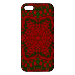 Christmas Kaleidoscope Apple Iphone 5 Premium Hardshell Case by Nexatart