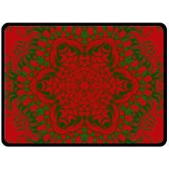 Christmas Kaleidoscope Double Sided Fleece Blanket (large)